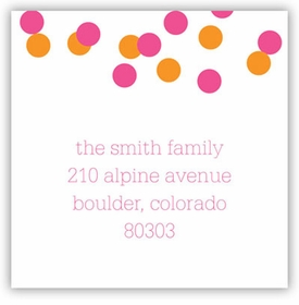 boatman geller confetti pink & orange square sticker