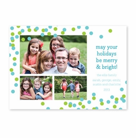 boatman geller confetti teal & green photocard