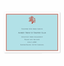 boatman geller coral flat stationery/announcement