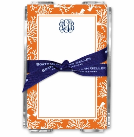 boatman geller coral repeat acrylic note sheets