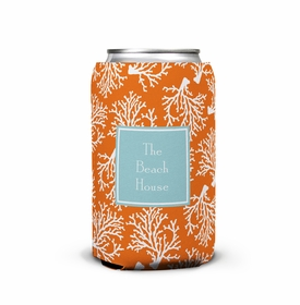 boatman geller coral repeat can koozie