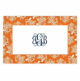 boatman geller coral repeat disposable placemats