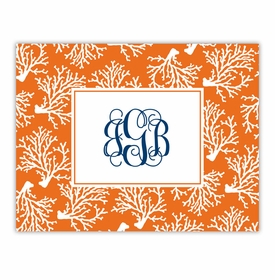 boatman geller coral repeat foldover note cards