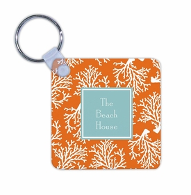 boatman geller coral repeat key chain