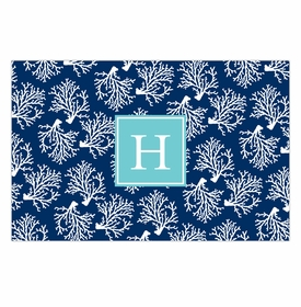 boatman geller coral repeat navy disposable placemats