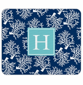 boatman geller coral repeat navy mouse pad