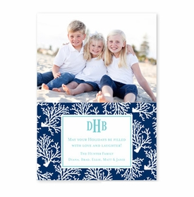 boatman geller coral repeat navy photocard