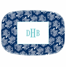 boatman geller coral repeat navy platter