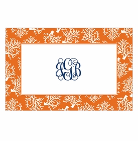 boatman geller coral repeat placemat