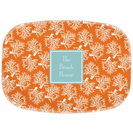 boatman geller coral repeat platter