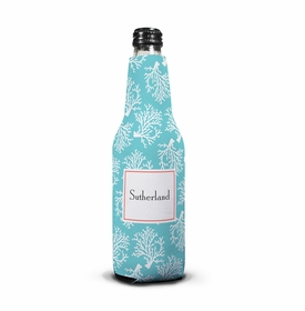 boatman geller coral repeat teal koozie