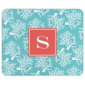 boatman geller coral repeat teal mouse pad