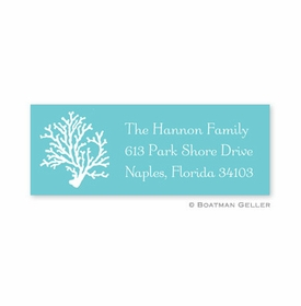 boatman geller coral teal address labels