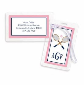 boatman geller crossed racquets bag tags