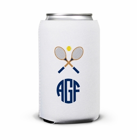 boatman geller crossed racquets can koozie