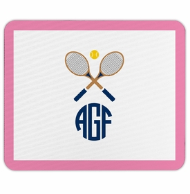 boatman geller crossed racquets mouse pad