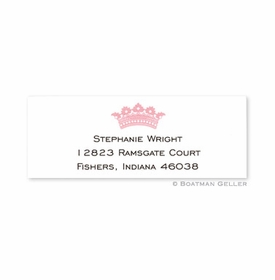 boatman geller crown pink address labels