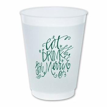 cup with icon eat drink be merry