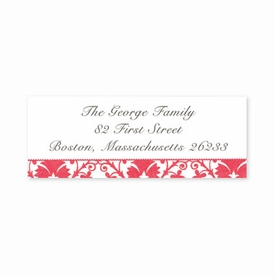 boatman geller damask red address labels