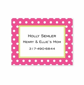 boatman geller dot dark pink calling card