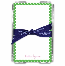 boatman geller dot green acrylic note sheets
