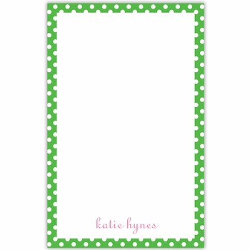boatman geller dot green notepad