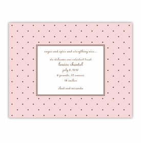 boatman geller dot pink with brown small flat