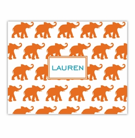 boatman geller elephants orange foldover notes