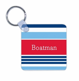 boatman geller espadrille nautical key chain
