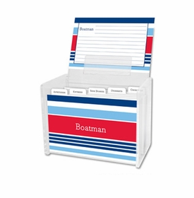 boatman geller espadrille nautical recipe box