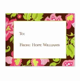 boatman geller floral brown calling card
