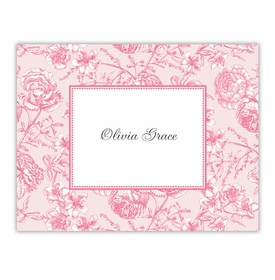 boatman geller floral toile pink foldover notes