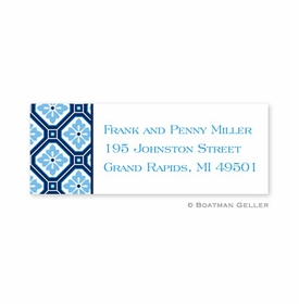 boatman geller geo pattern navy address labels