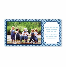 boatman geller geo pattern navy photocard
