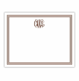 boatman geller grand border chocolate small flat notecard