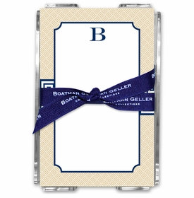 boatman geller greek key band navy acrylic note sheets