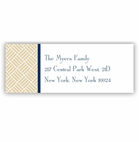 boatman geller greek key band navy address labels