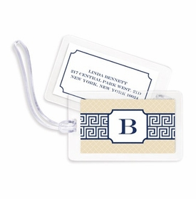 boatman geller greek key band navy bag tags