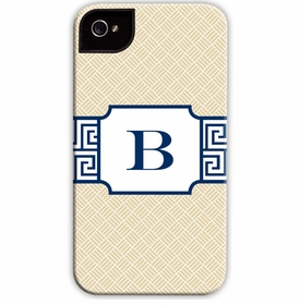 boatman geller greek key band navy cell phone case