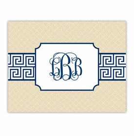 boatman geller greek key band navy foldover notes
