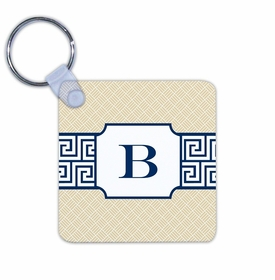 boatman geller greek key band navy key chain