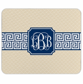 boatman geller greek key band navy mouse pad