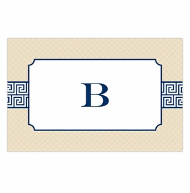 boatman geller greek key band navy placemat