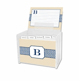 boatman geller greek key band navy recipe box