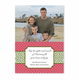 boatman geller greek key band olive photocard