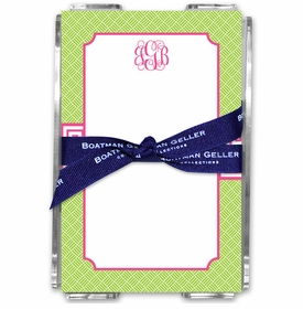boatman geller greek key band pink acrylic note sheets