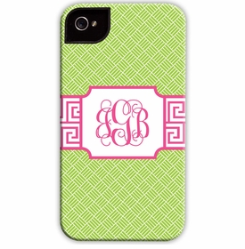 boatman geller greek key band pink cell phone case