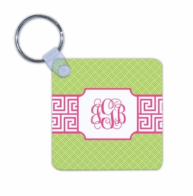 boatman geller greek key band pink key chain