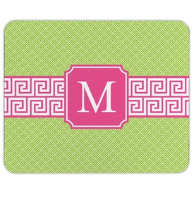 boatman geller greek key band pink mouse pad