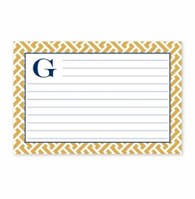boatman geller greek key band pink recipe card